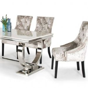 Arianna Range in Chrome Steel with Cream Marble